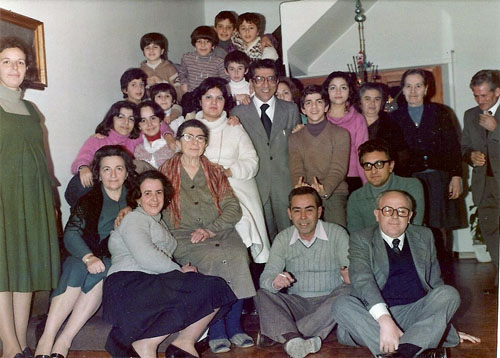 a family gathering on Christmas 1977