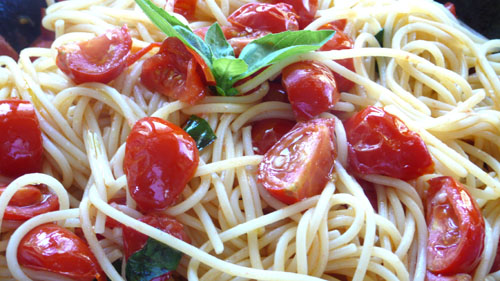 a delicious pasta dish, ready in no time