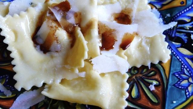 ravioli pear pecorino balsamic vinegar recipe