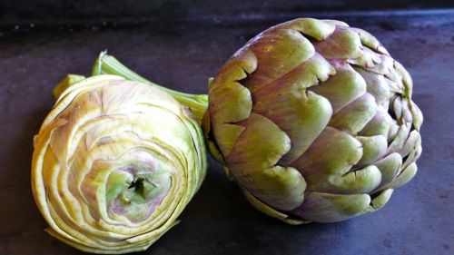artichoke trimmed in a conical shape