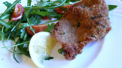crspy, fragrant, garlicky pork cutlets