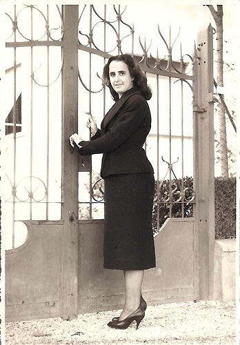 my mother in 1954