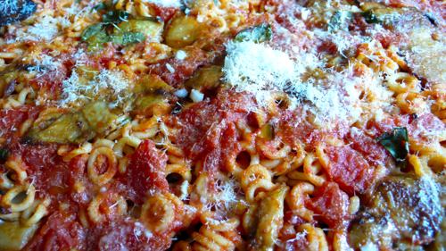 baked Sicilian style pasta with eggplants
