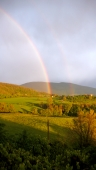 two rainbows from my window, double joy.