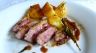 tender balsamic and orange-marinated duck breast