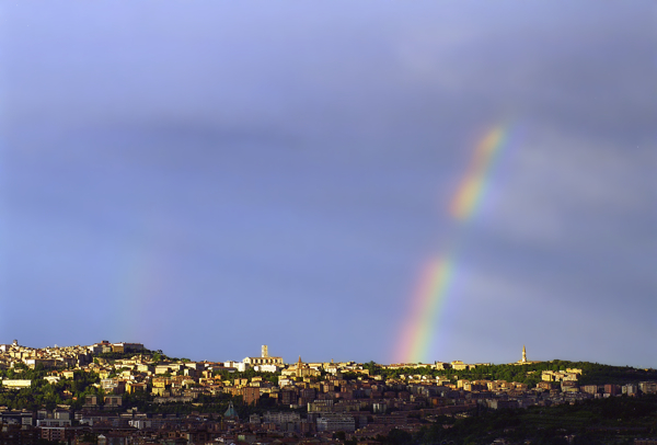 view of my hometown Perugia from my parent's place (photo T. di Luca)