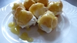 delicate limoncello profiteroles, a lovely summer dessert