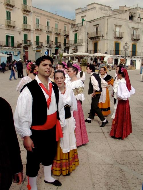 Lipari's main square during a festival