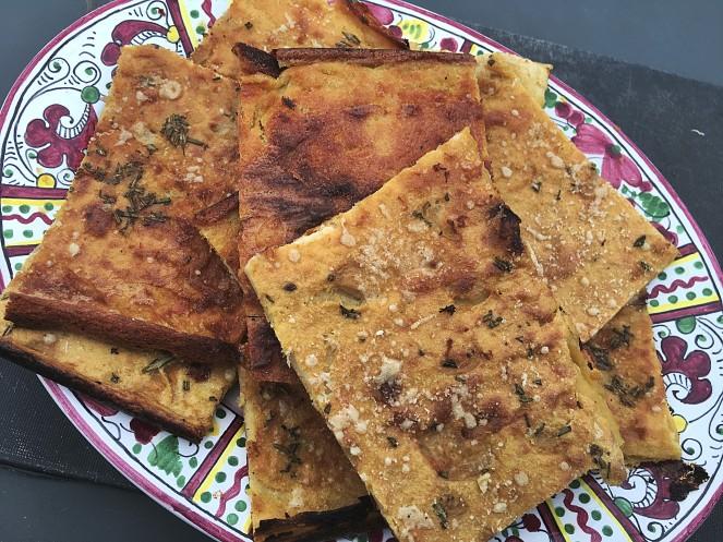 farinata Italian gluten free pancake