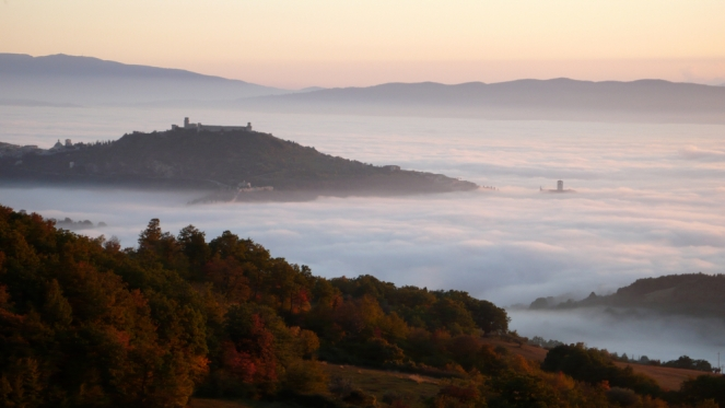 Umbrian autumn view