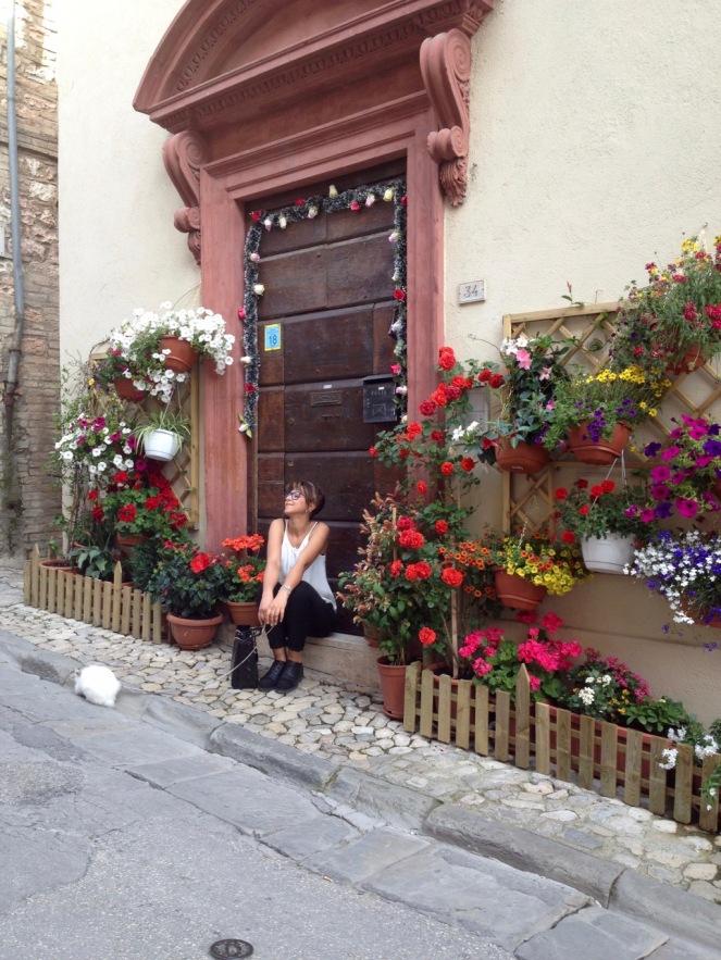 Spello Infiorata flower festival Umbria
