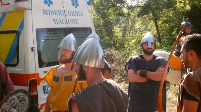 Goths getting ready to fight against the Romans