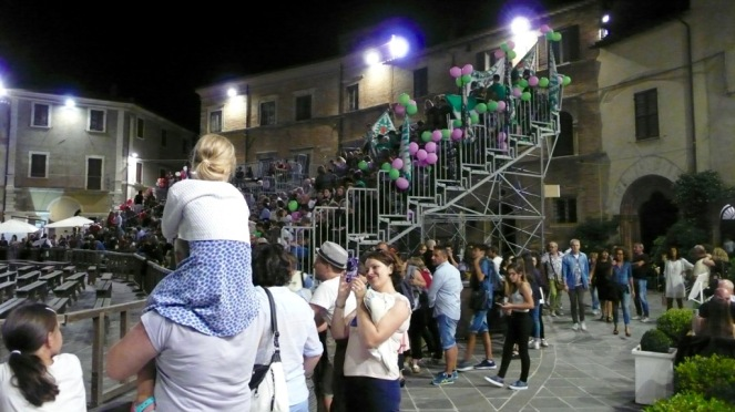 Summer night in August in Montefalco, Umbria