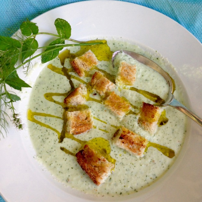 wild fennel and cucumber soup