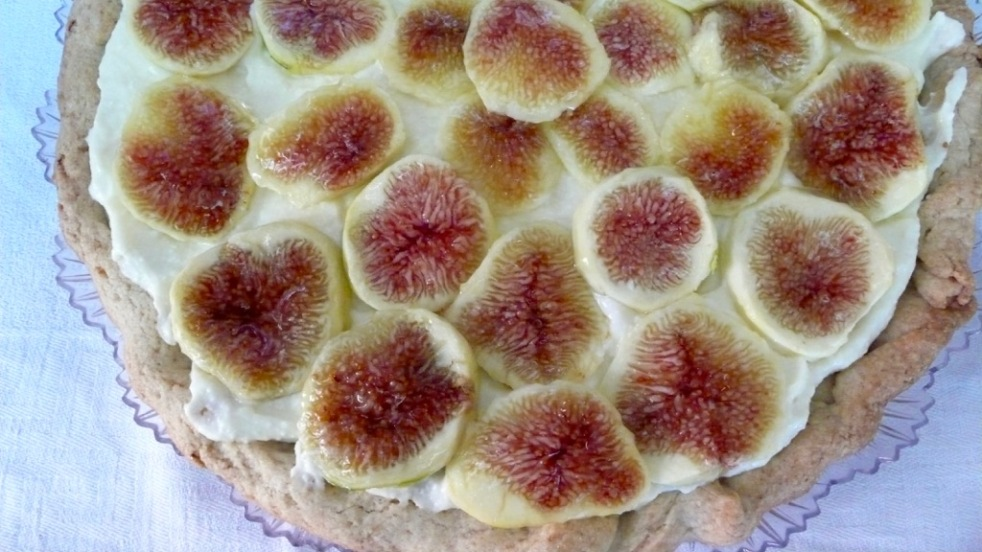 wholegrain fig ricotta tart