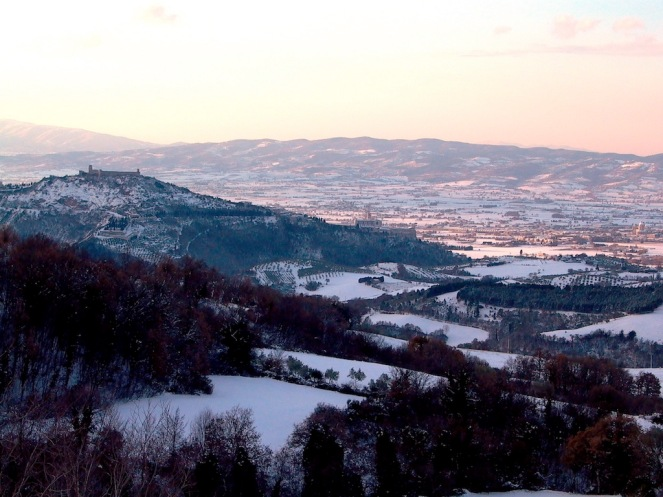 view of Assisi from alla Madonnda del Piatto