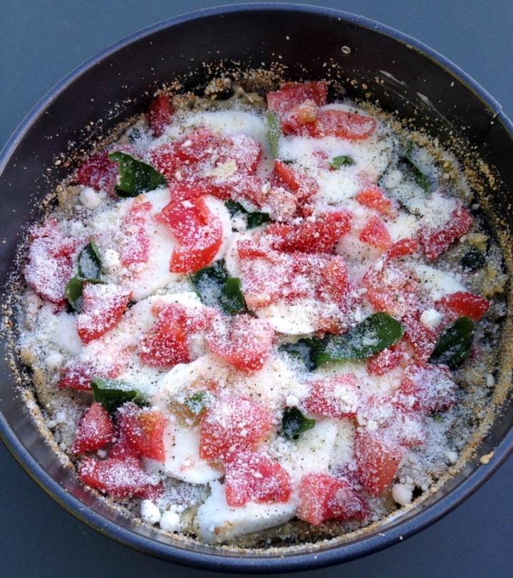 gluten free crustless eggplant quiche