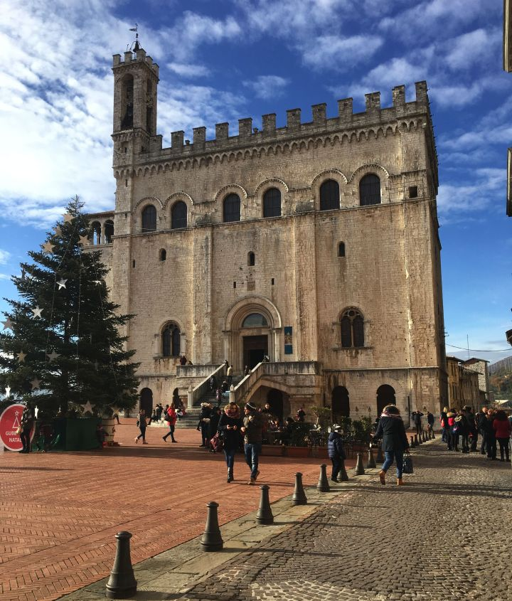 Gubbio Hilltown inUmbria at Christmas Time