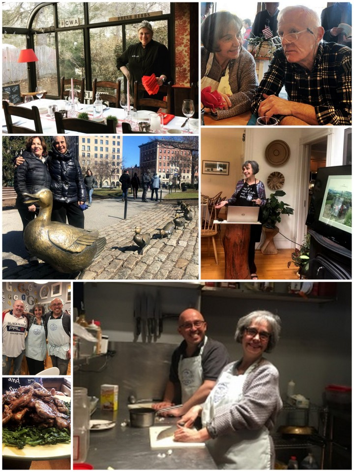 A collection of images from A Kitchen with a View Cookbook tour in Norwell and Boston 2019