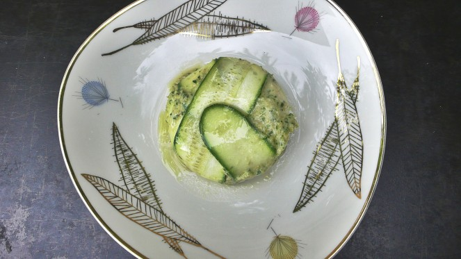 a delicious zucchini flan filled with ricotta and parmigiano