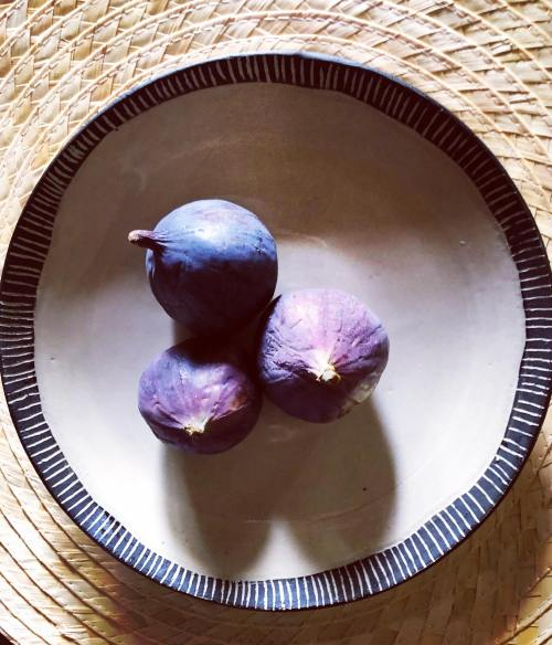 beautiful plate with purple figs by Diana Baur Creations