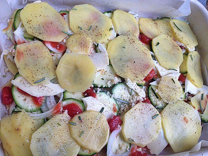 baked vegetables Italian style gratin