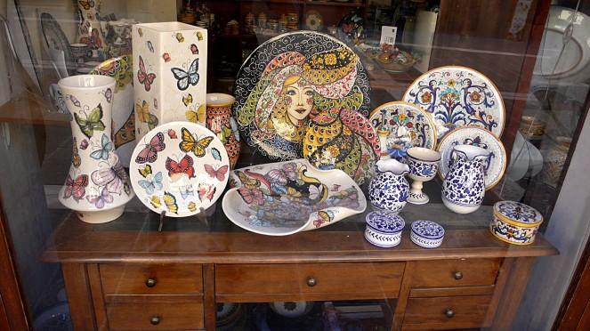 ceramic plates from Deruta in Umbria