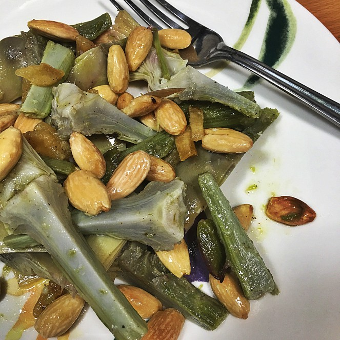 artichoke salad with candied citron