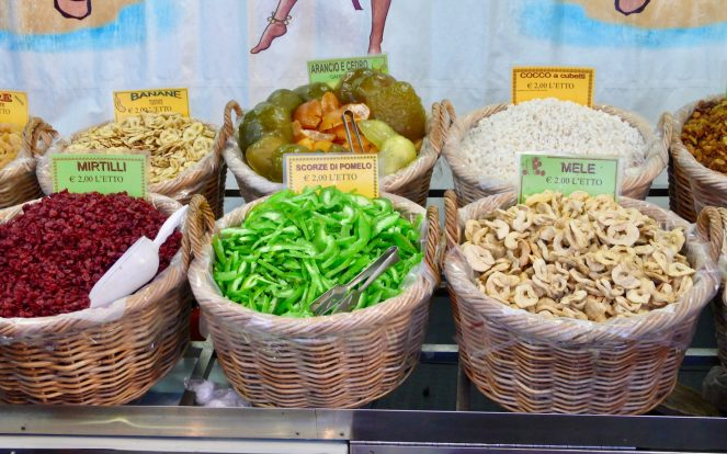 candied fruit stand in Italy