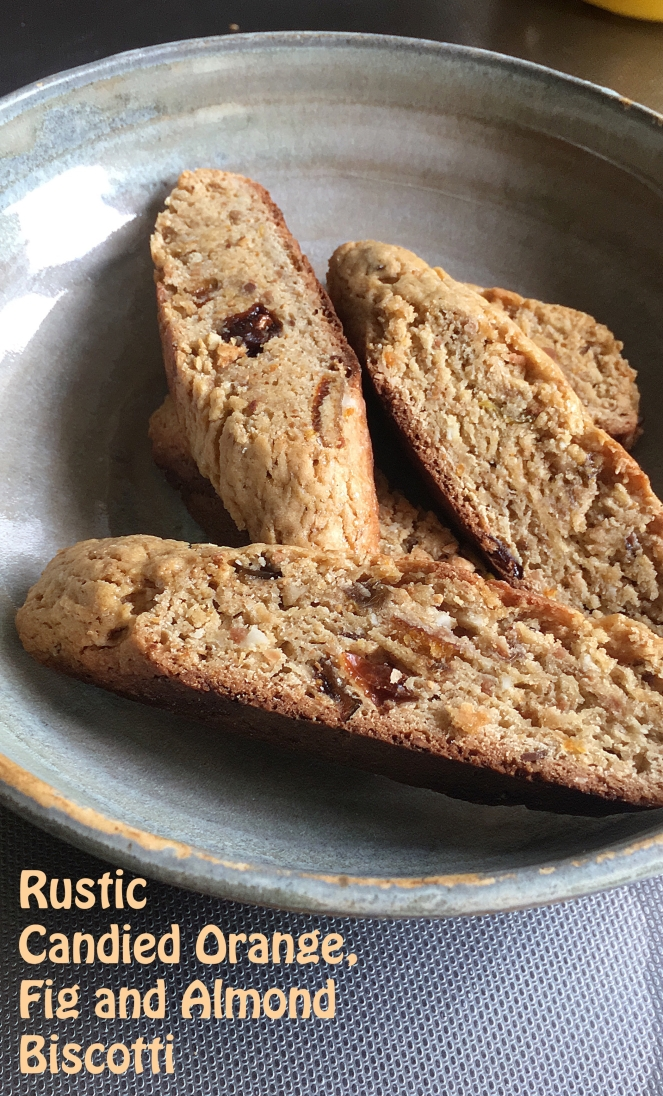 Italian candied orange fig almond biscotti