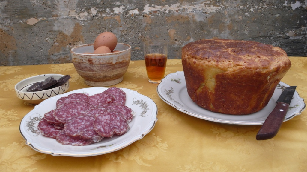 easter breakfast in Umbria Italy